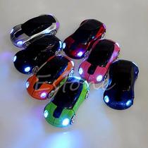 Mini Mouse Carrinho Usb Led Sem Fio Notebook Computador Pc