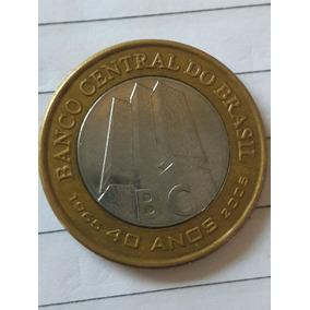 Moeda 40 Anos Banco Central Comemorativa Circulada