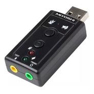 Placa De Sonido Externa Con Botones Virtual Dj Usb 7.1