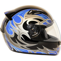 Capacete Moto Ebf New Spark Thor P02 Fechado 56 Preto E Azul