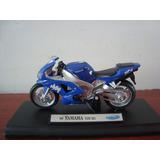 Mini Moto Yamaha Yzf-r1 1999 Da Welly Na Escala 1/18