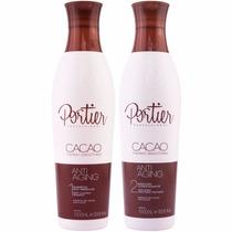 Escova Progressiva De Chocolate Fine Portier Cacao Kit 2x1 L