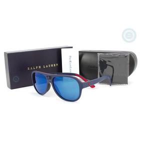 Lentes Polo Ph4123 561855 Matte Navy - Mirror Blue Original