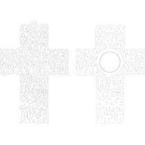 Vectores Religiosos Cruces Y Árboles Con Oración