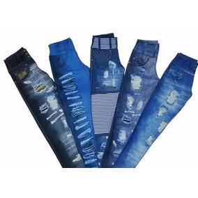 Kit Com 10 Leg Fake Imita Jeans - Promoção Revenda