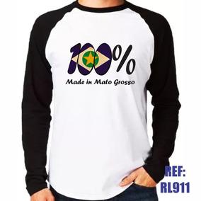 Camisa Raglan Manga Longa 100% Made In Mato Grosso Brasil