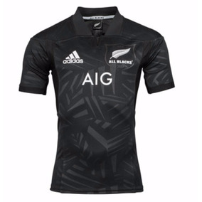All Black Camiseta Rugby Oficial adidas Negra 2017