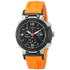 Tissot Womens T0482172705700 T-race Black Chronograph Dial O