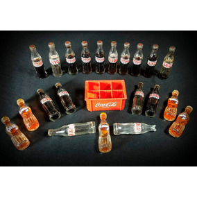 Botellitas Miniatura Coca-cola Y Crush + Cajón Coleccionable