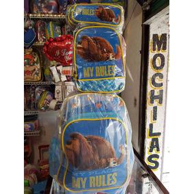 Paquete Mochila Lonchera Y Lapicera De Mascotas Duke Ruedas