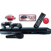 Dvd Player Game Promoção Ph170 372 Jogos - Philco Controles
