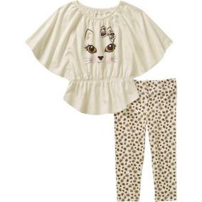 Conjunto Blusa Pantalón Para Niña Talla 4 Años