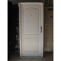 Puerta Chapa Doble Inyectada Ciega Manijon Aluminio Lib24415