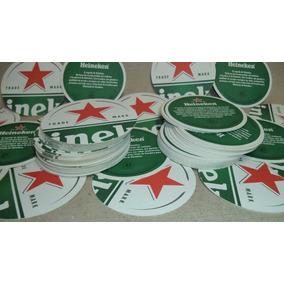 Bolachas Chopp Heineken 11cm - Porta Copos 50 Unidades