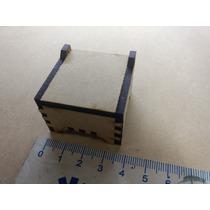 Cajita Souvenir Fibrofacil Mdf Corte Laser Alajero 4 X 4 X 2