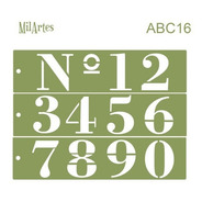 Mil Artes - Stencil Números 8cm Alto - Abc16