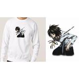Blusa Moletom Casaco De Inverno Anime Death Note Personagem