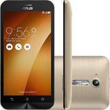 Celular Asus Zenfone Go Zb500kg Dourado 8gb Tela5 Dual Chip