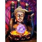 Fuente De Agua Budha Con Mano Meditacion