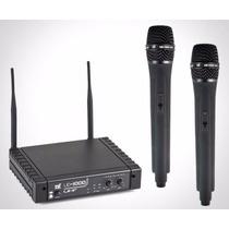Microfone Tsi Ud1000 S/fio Duplo Mão Uhf Sound Store