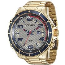 Relógio Seculus Masculino Long Life 28768gpsvda1
