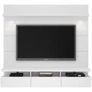 Mueble Tv Moderno Flotante Con Panel Lacado  Ref: Mural22
