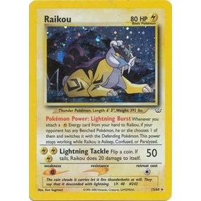 Carta Pokemon Raikou 13/64 Holo Rare Unlimited De Colección