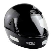 Capacete Masculino 56 Ebf Moto Rox Fechado Preto Brilhante