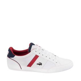Tenis Casual Lacoste Hombre Color Blanco Piel Is525a