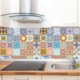Adesivo Azulejo Ladrílho Hidráulico Retro Cozinha