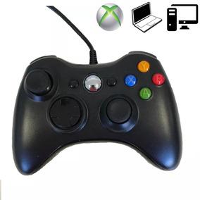 Xbox 360 Joystick Controle Video Game Com Fio Pc Notebook
