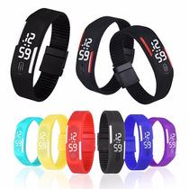 Relógio Led Digital Sport Bracelete Pulseira Silicone Barato