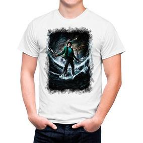 Camiseta Branca Acampamento Meio Sangue Percy Jackson 1106