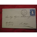 Sobre Impreso Colon Azul 5 Centavos 1903