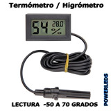 Termómetro Higrómetro Digital Con Sonda Externa