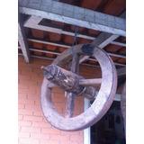 Roda De Carrinho De Mão Antigo Madeira Frete Grátis 40cm