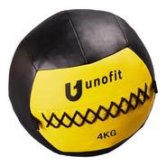 Pelota Medicinal Tipo Wall Ball Unofit De 4 Kg