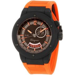 Reloj Salvatore Ferragamo F55lgq6876 Sr62 F-80 Naranja