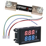 Voltímetro Amperímetro Digital Led Cc 100v-100a + Shunt 100a