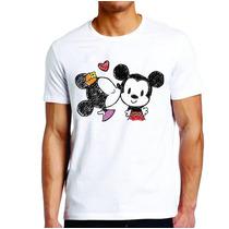 Camiseta Roupas Masculina Mickey E Minnie Desenho