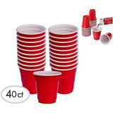 40pc Mini Del Partido De Copa Roja Alazco Vasos De Set (2 O
