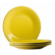 Set De 4 Platos De Ceramica Color Girasol