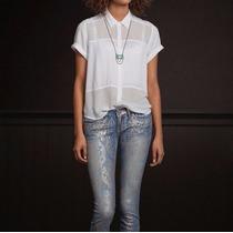Camisa Social Hollister Feminina 100% Original - Tam: M - P1