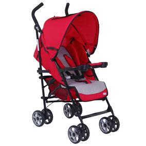 Carrinho De Bebê Burigotto Encosto Reclinável Sunshine Red