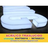 Planchas De Acrilico, Para Letras, Cajas De Luz, Fabricacion