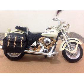 Motocicleta Harley-davidson Miniatura Em Plástico E Metal