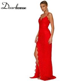 Vestido Rojo Talle M . Fucia L