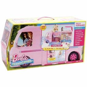Mega Trailer Da Barbie Mattel Cjt42 Boneca Menina