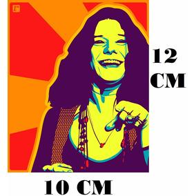 Adesivo Logo Janis Joplin Psychedelic Art C/ Frete Gratis