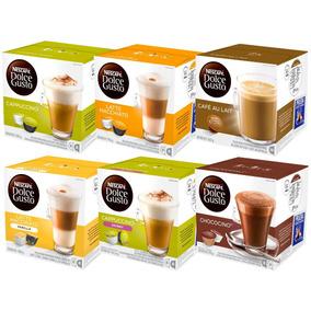 Pack 6 Cajas Nescafé Dolce Gusto Café Lacteado Y Chocolate